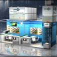 "Exhibition stand of ""The Union of Fish Processing Industry"", exhibition ANUGA 2011 in Cologne"