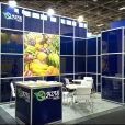 "Exhibition stand of ""Oazis Fruits"" company, exhibition FRUIT LOGISTICA 2012 in Berlin"