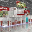 National stand of Latvia, exhibition WORLD FOOD MOSCOW 2009