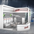 """Russian Railways"" stand design developing within Russian National Pavilion in MSV 2012 exhibition"