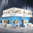 "Exhibition stand of ""The Union of Fish Processing Industry"", exhibition SIAL-2012 in Paris"
