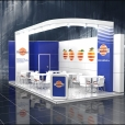 "Exhibition stand of ""Ruzi Fruit"" company, exhibition FRUIT LOGISTICA 2013 in Berlin"