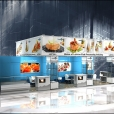 "Exhibition stand of ""The Union of Fish Processing Industry"", exhibition WORLD OF PRIVATE LABEL 2013 in Amsterdam"