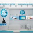 "Exhibition stand of ""Russian Maritime Register of Shipping"", exhibition NOR-SHIPPING 2013 in Oslo"