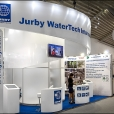 "Exhibition stand of ""Jurby Water Tech"" companies, exhibition DRINKTEC 2013 in Munich"