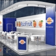 "Exhibition stand of ""Ruzi Fruit"" company, exhibition FRUIT LOGISTICA 2014 in Berlin"
