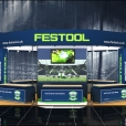 "Exhibition stand of ""FESTOOL"" company, exhibition KBB 2014 in Birmingham"
