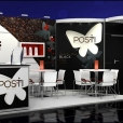 "Exhibition stand of ""Posti"" , exhibition WORLD OF PRIVATE LABEL 2014 in Amsterdam"