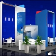 "Exhibition stand of ""Streamline OPS"" / ""Jet 2000"" companies, exhibition EBACE 2014 in Geneva"