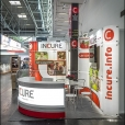 "Exhibition stand of ""Incure"" companies, exhibition ERS 2014 in Munich"