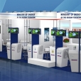 Stand of Ministry of Energy of the Russian Federation, exhibition CIGRE 2014 in Paris