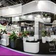"Exhibition stand of ""Borshchahivskiy Chemical-Pharmaceutical Plant"", exhibition CPhI WORLDWIDE 2014 in Paris"
