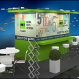 "Exhibition stand of TV channel ""RTTV"", exhibition MIPTV 2015 in Cannes"