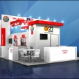National stand of Malaysia, exhibition TRANSPORT LOGISTIC 2015 in Munich