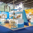 "Exhibition stand of ""The Union of Fish Processing Industry"", exhibition WORLD OF PRIVATE LABEL 2015 in Amsterdam"