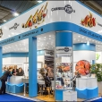 "Exhibition stand of ""The Union of Fish Processing Industry"", exhibition EUROPEAN SEAFOOD EXPOSITION 2015 in Brussels"