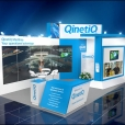 "Exhibition stand of ""Qinetiq"" company, exhibition NOR-SHIPPING 2015 in Oslo"