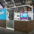 "Exhibition stand of ""Accenture"" company, exhibition HEALTH AND CARE INNOVATION EXPO 2015 in Manchester"