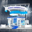 "Exhibition stand of ""Kuwait Airways"" company, exhibition WTM 2015 in London"
