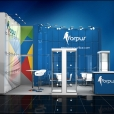 "Exhibition stand of ""Forpus"", exhibition PAPERWORLD 2016 in Frankfurt"
