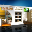 Exhibition stand of Laima (Orkla) and Balticovo companies, exhibition GULFOOD 2016 in Dubai