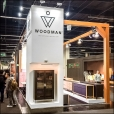 "Exhibition stand of ""Woodman"" company, exhibition IMM 2016 in Cologne"