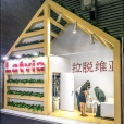 National stand of Latvia, exhibition SIAL CHINA 2016 in China