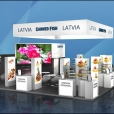 "Exhibition stand of ""The Union of Fish Processing Industry"", exhibition SIAL 2016 in Paris"