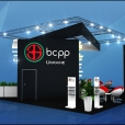 "Exhibition stand of ""Borshchahivskiy Chemical-Pharmaceutical Plant"", exhibition CPhI WORLDWIDE 2018 in Madrid"