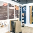 "Exhibition stand of ""Valinge"" company, exhibition DOMOTEX 2019 in Hannover"