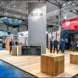 "Exhibition stand of ""Bjelin"" company, exhibition DOMOTEX 2018 in Hannover"
