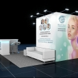 "Exhibition stand of ""ERA Esthetic"" company, exhibition EXPO BEAUTY MEETUP 2019 in Riga"