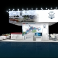 Exhibition stand of Port of Riga, exhibition TRANSRUSSIA 2019 in Moscow