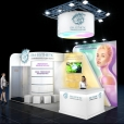 "Exhibition stand of ""ERA Esthetic"" company, exhibition BALTIC BEAUTY 2019 in Riga"