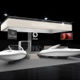 "Exhibition stand of ""Q-Yachts"" сompany, exhibition BOAT DUSSELDORF 2020 in Dusseldorf"