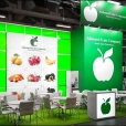 "Exhibition stand of ""Akhmed Fruit Company"" company, exhibition FRUIT LOGISTICA 2020 in Berlin"