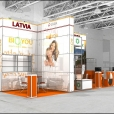 Stand of Latvian companies, exhibition NATURAL & ORGANIC PRODUCTS EUROPE 2011 in London